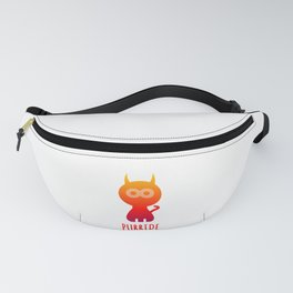 Purride Cat Pride Typography Fanny Pack