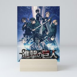 Attack on titan New Official Poster With Eren Jeager Mini Art Print