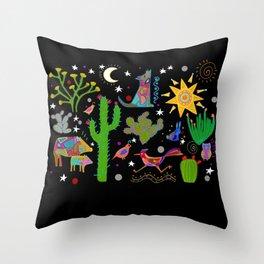 Arizona Sonoran desert at night Throw Pillow