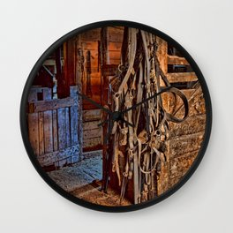 Draft Horse Harness Wall Clock