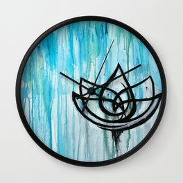Lotus in the Rain I Wall Clock