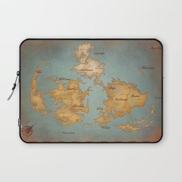 Final Fantasy Nes World Map.Gaia World Map Final Fantasy Vii Laptop Sleeve By Kazpalladino