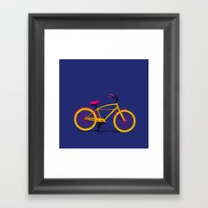 Happy Bike Framed Art Print