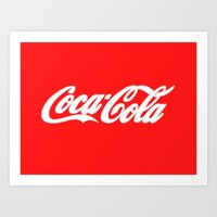 coca cola Art Prints featuring Coca-Cola by Rebekhaart