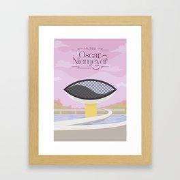Curitiba - Museo Oscar Niemeyer Framed Art Print