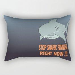 Stop shark finning Rectangular Pillow
