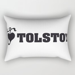 Lev LOVE Tolstoy #1b Rectangular Pillow