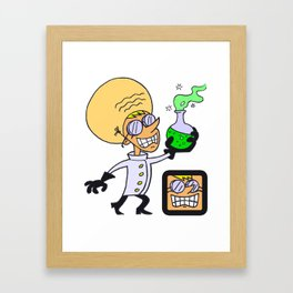 Mad Scientist Framed Art Print