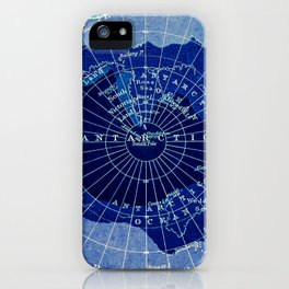 South Pole Neon Map iPhone Case