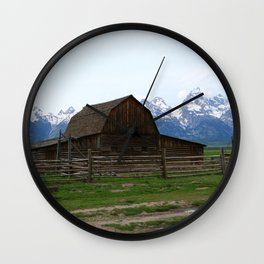Mormon Row Iconic Barn Wall Clock