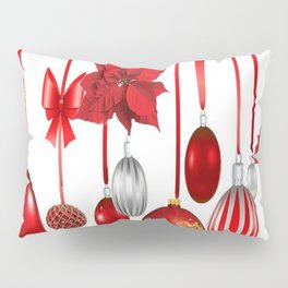 RED-WHITE CHRISTMAS ORNAMENTS FROM SOCIETY6 Pillow Sham
