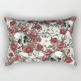 Skulls and Roses or Les Fleurs du Mal Rectangular Pillow