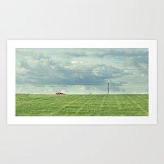 Carretera Solitaria Art Print