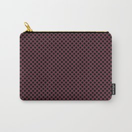 Tawny Port and Black Polka Dots Carry-All Pouch