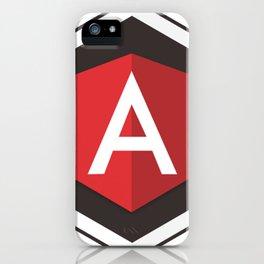 Angular Js developer sticker angularjs javascript framework iPhone Case
