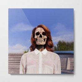 Bones to Die Tee! Metal Print