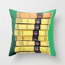Nancy Drew Stack - Throw Pillow