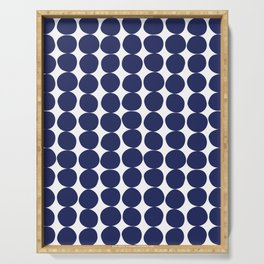 Midcentury Modern Dots Navy Serving Tray