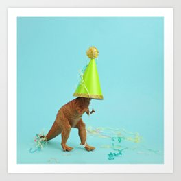Dinosaurs like to party Art Print