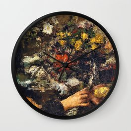 The Flower Seller - Digital Remastered Edition Wall Clock