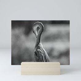 Anhinga in Mono Mini Art Print