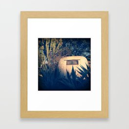 Desert Trailer Framed Art Print