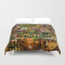 The Poetry of Wine Duvet Cover