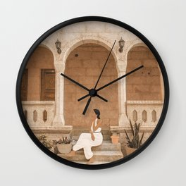 On the Steps Wall Clock