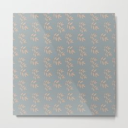 Wispy Wheat Bouquet Accent Pattern Metal Print