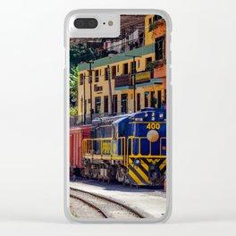 Peru Rail Train - Aguas Calientes Clear iPhone Case