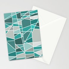 Turquoise and grey Stationery Cards