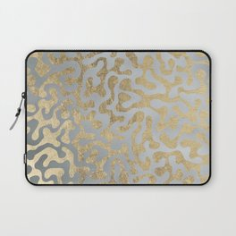 Modern elegant abstract faux gold silver pattern Laptop Sleeve