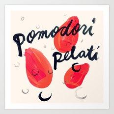 Pomodori Pelati | 100 Days of Cookbook Spots Art Print