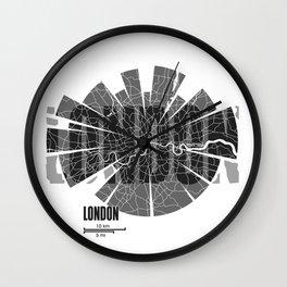 London Map Wall Clock