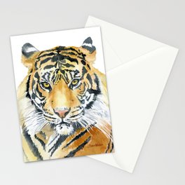 Tiger Watercolor Painting Stationery Cards