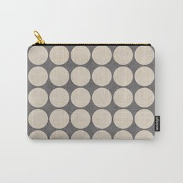 ecru and gray dots Carry-All Pouch