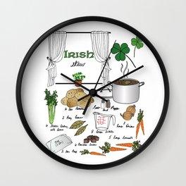 Irish Stew Wall Clock