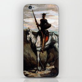 Honore Daumier Don Quixote in the Mountains iPhone Skin