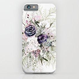 Purple Bouquet iPhone Case