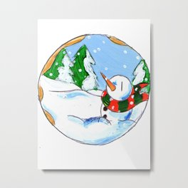 Sweet Snowfall Metal Print