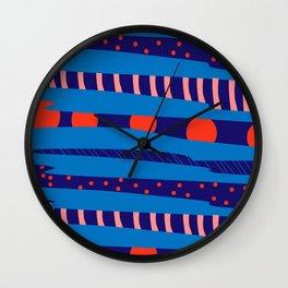 Remix La colorida frondosidad de Karan Singh Wall Clock