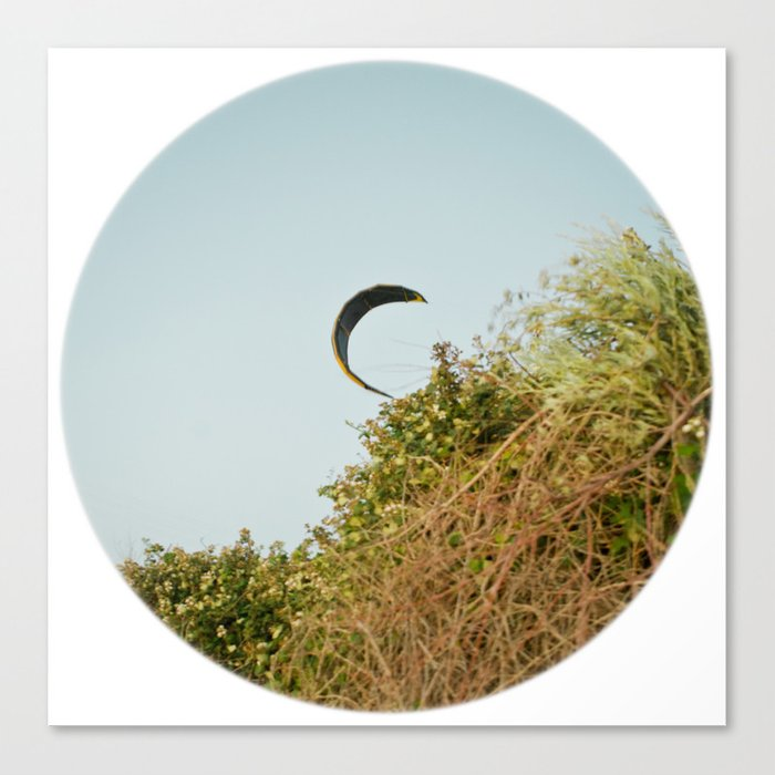 """CREEPING IN"" kitesurf . kite . surf Canvas Print"