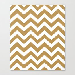 Maple syrup - brown color - Zigzag Chevron Pattern Canvas Print