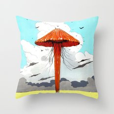 méduse volante #1 Throw Pillow