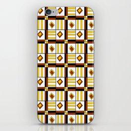 symetric tartan and gingham 10 -vichy, gingham,strip,square,geometric, sober,tartan iPhone Skin
