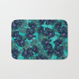 Hibiscus Blue Bath Mat