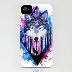 galaxy wolf iPhone (4, 4s) Slim Case