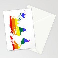 LGBT World (Gay Pride Flag) Stationery Cards