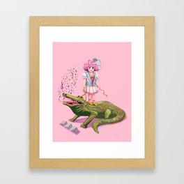 My Pet Crocodile Framed Art Print