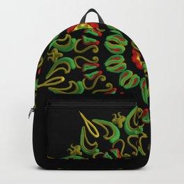 Mandala Reggae en la noche Backpack